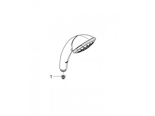 Ручной душ Grohe 28393000 Movario (5 режимов), хром, вид 14