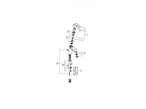 ��������� ��� ����� Grohe 29081000 BauLoop (�� ������������ ����������, ������� ������), ����, ��� 2