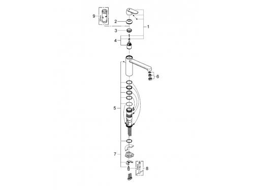 Кухонный смеситель Grohe 30193000 Eurosmart Cosmopolitan со средним изливом, хром (30193000), вид 2