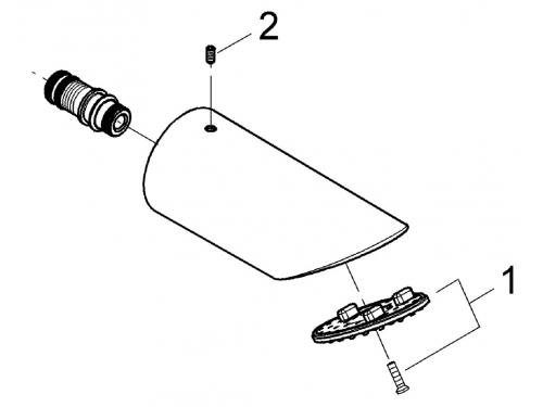 Верхний душ Grohe 28308000 Sena, 1 режим, диаметр 75 мм, хром, вид 2