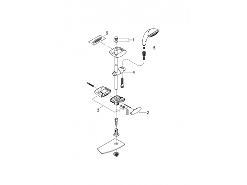 Душевой гарнитур Grohe 28571000 Movario (ручной душ, штанга 900 мм, шланг 1750 мм), хром, вид 5