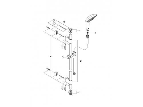 Душевой гарнитур Grohe 28769001 Rainshower Classic 130 (ручной душ, штанга 900 мм, шланг 1750 мм), хром, вид 2