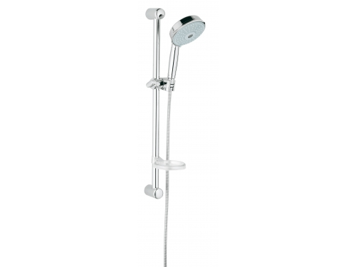 Душевой гарнитур Grohe 27139000 Rainshower Rustic (ручной душ, штанга 600 мм, шланг 1750 мм), хром, вид 1