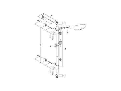 Душевой гарнитур Grohe 27273001 Rainshower Solo (ручной душ, штанга 900 мм, шланг 1750 мм), хром, вид 2