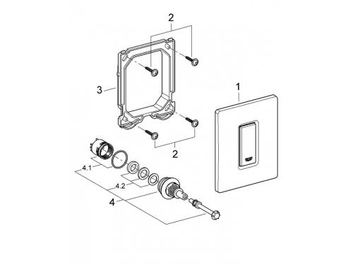 Панель смыва для писсуара Grohe 38784SD0 Skate Cosmopolitan (1 режим смыва), нержавеющая сталь (38784SD0), вид 2