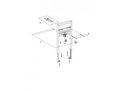 Система инсталляции для раковины Grohe 38541000 Rapid SL (1 м) (38541000), вид 2