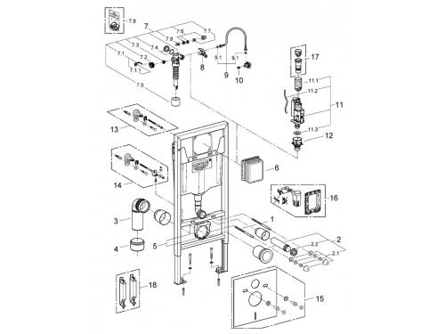 Система инсталляции для унитаза Grohe 38528001 Rapid SL (1,13 м) (38528001), вид 2