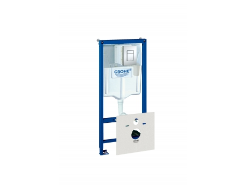 Система инсталляции для унитаза Grohe 38827000 Rapid SL с панелью смыва (3 режима), комплект 5-в-1 (1,13 м) (38827000), вид 1