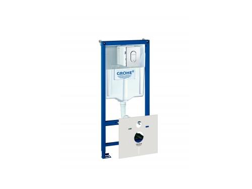 Система инсталляции для унитаза Grohe 38929000 Rapid SL с панелью смыва Arena Cosmopolitan (3 режима) (1,13 м) (38929000), вид 1
