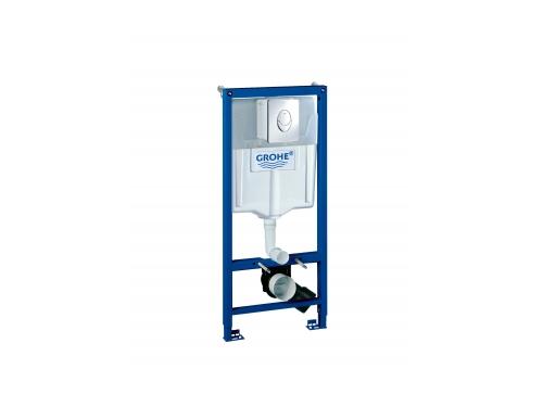 Система инсталляции для унитаза Grohe 38721001 Rapid SL с панелью смыва Skate Air (3 режима), комплект 3-в-1 (1,13 м) (38721001), вид 1