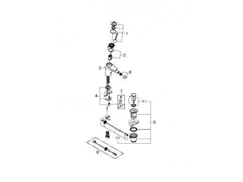 Смеситель для биде Grohe 24036000 Eurodisc Joy с донным клапаном, хром, вид 2