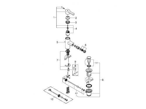 ��������� ��� ���� Grohe 33848000 Lineare � ������ ��������, ���� (33848000), ��� 2