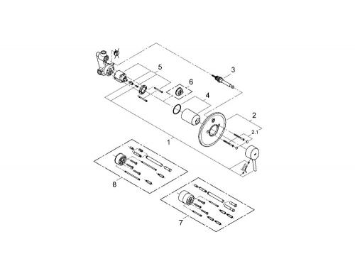 Смеситель для ванны Grohe 32214001 Concetto (со встраиваемым механизмом), хром, вид 2