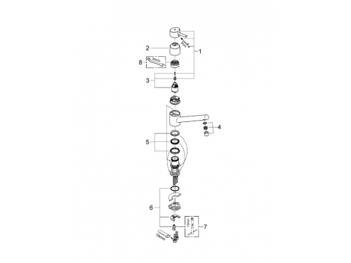 �������� ��������� Grohe 32659001 Concetto c ������ �������, ����, ��� 2