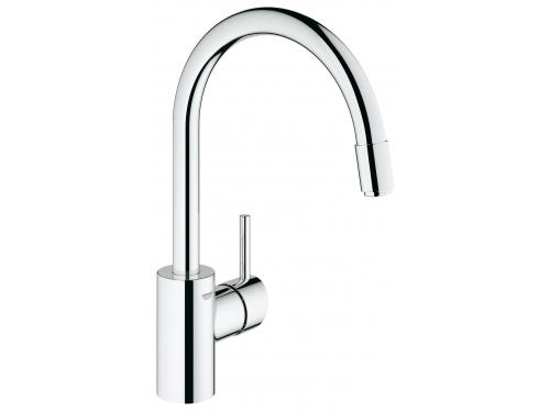 Кухонный смеситель Grohe 32663001 Concetto с выдвижным высоким изливом, хром (32663001), вид 1