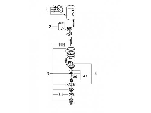 Смывное устройство Grohe 37427000 Tectron с инфракрасным управлением (37427000), вид 2