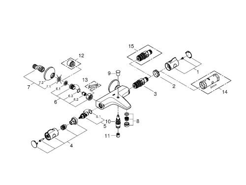 Термостат для ванны Grohe 34567000 Grohtherm 800, хром (34567000), вид 2