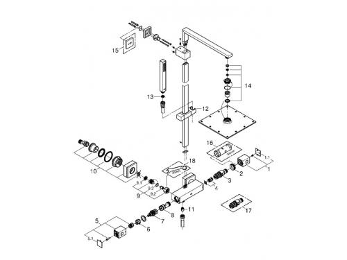 Душевая система Grohe 26087000 Euphoria Cube, хром, вид 2