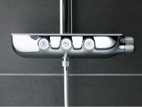 Душевая система Grohe 26250000 Rainshower SmartControl с верхним и ручным душем, хром (26250000), вид 11
