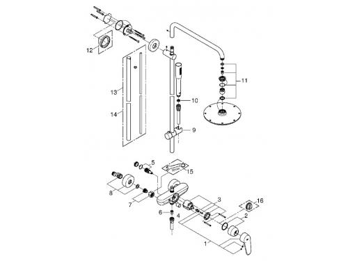 Душевая система Grohe 23058003 Euphoria 210 с верхним и ручным душем, хром, вид 2