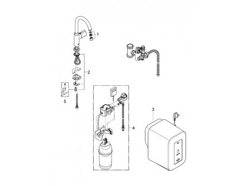 Кухонный смеситель Grohe 30085DC0 Red бойлер 4 л, C-излив, без смешивания, суперсталь (30085DC0), вид 2