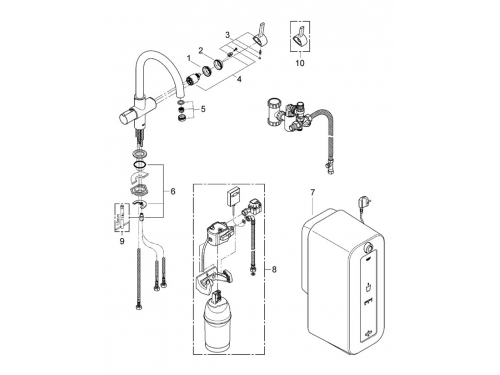 �������� ��������� Grohe 30079DC0 Red ������ 8 �, C-�����, �� ����������, ���������� (30079DC0), ��� 2