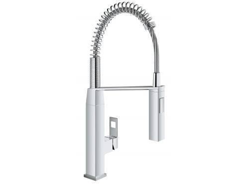 Кухонный смеситель Grohe 31395000 Eurocube профессиональный, хром (31395000), вид 2