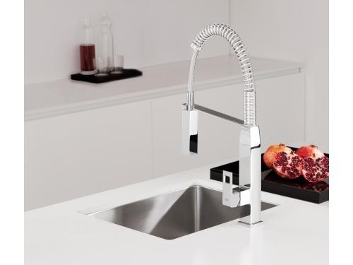 Кухонный смеситель Grohe 31395000 Eurocube профессиональный, хром (31395000), вид 4