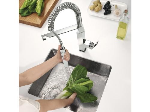 Кухонный смеситель Grohe 31395000 Eurocube профессиональный, хром (31395000), вид 7