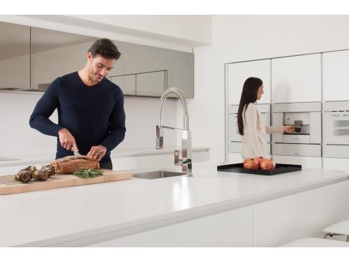 Кухонный смеситель Grohe 31395000 Eurocube профессиональный, хром (31395000), вид 8