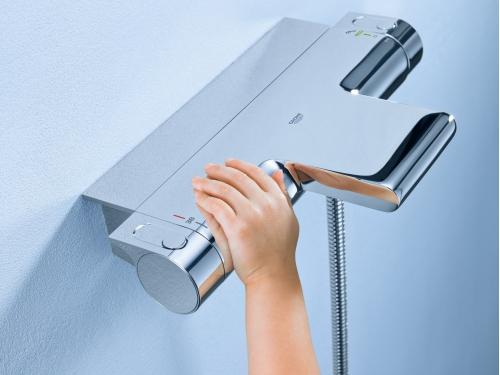 Термостат для ванны Grohe 34464001 Grohtherm 2000 с полочкой, хром, вид 3
