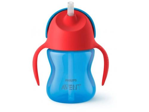 Поильник Philips Avent Чашка с трубочкой 200мл, 9 мес+, для мальчика, синяя, вид 1