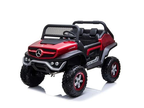 Электромобиль BARTY Mercedes-Benz Unimog Concept, красный глянец, вид 1