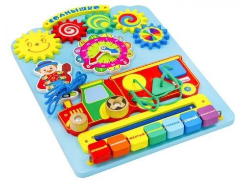 Игрушка для малыша Бизиборд Alatoys Солнышко, вид 4