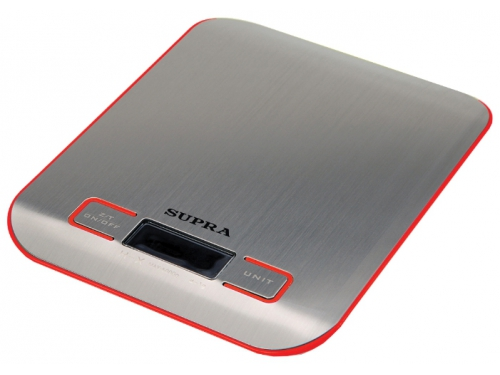 Кухонные весы Supra BSS-4076, красные, вид 1