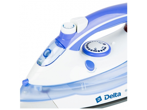 Утюг Delta DL-711, белый с фиолетовым, вид 3