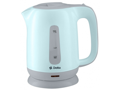 Чайник электрический Delta DL-1001, голубой с серым, вид 1