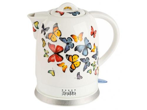 Чайник электрический Delta DL-1233А, Бабочки, вид 1