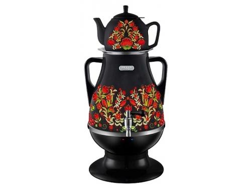 Чайник электрический Самовар электрический Delta Lux DL-3022 К41250, черный/хохлома, вид 1