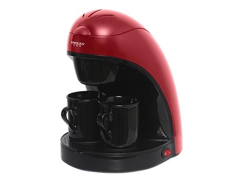 Кофеварка DELTA LUX DL-8132, красная с черным, вид 1