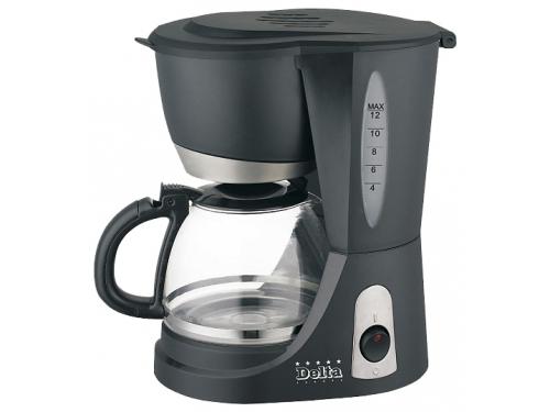 Кофеварка Delta DL-8136, черная, вид 1