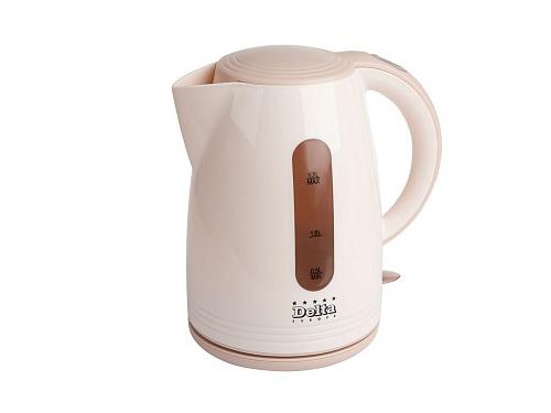 Чайник электрический Delta  DL-1303 бежевый, вид 1