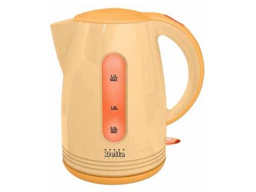 Чайник электрический Delta  DL-1303 оранжевый, вид 1