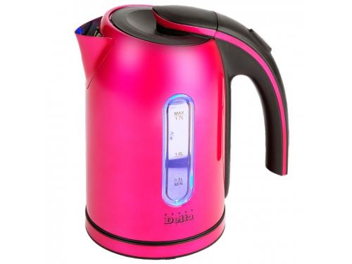 Чайник электрический Delta DL-1006 малиновый, вид 1