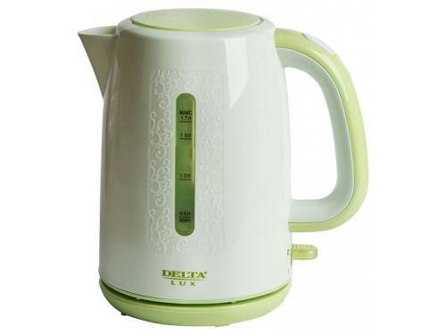 Чайник электрический Delta LUX DL-1320, зеленый, вид 1