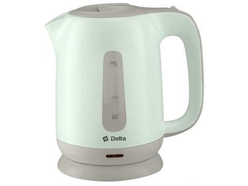 Чайник электрический Чайник Delta DL - 1001, зелёный с серым, вид 1