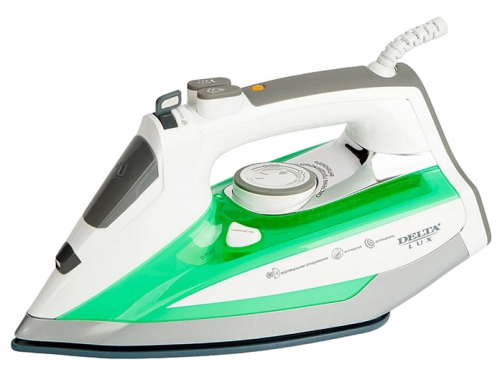 Утюг Delta LUX DL-149, белый с зеленым, вид 1
