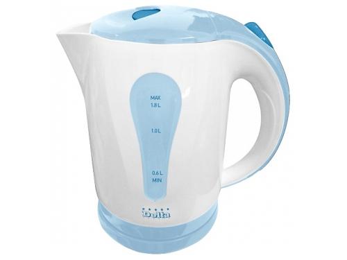 Чайник электрический Delta DL-1017, белый с голубым, вид 1
