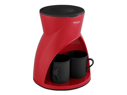 Кофеварка Delta Lux DL-8131, красная, вид 1