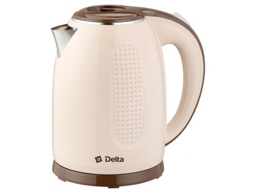 Чайник электрический Delta DL-1019, бежевый, вид 1